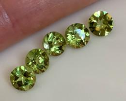 ⭐5 piece  Peridot Gem Parcel 6mm VVS stones