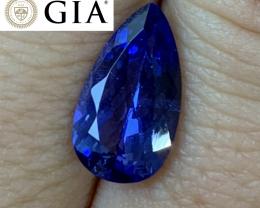 3.93 cts GIA Certified D Block Tanzanite - VVS - Ultra Blue!!