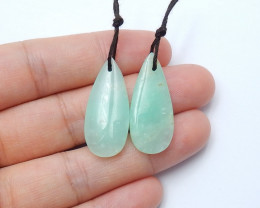 23cts High quality natural chrysoprase earring beads semi-gem (A638)