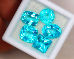 16.02ct Natural Paraiba Colour Topaz Oval Cut Mix Size Lot A436