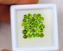 2.26ct Chrome Diopside Round Cut 2.6mm Lot S52