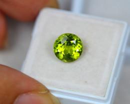 3.58ct Green Peridot Round Cut Lot S37