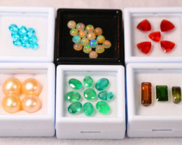 33.6Ct ~ 6 Kinds of Mixed Gemstones Combo Auctions ~ B13/1