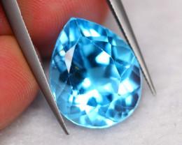 12.65Ct Natural VVS Clarity Sky Blue Topaz Pear Cut ~ B13/2