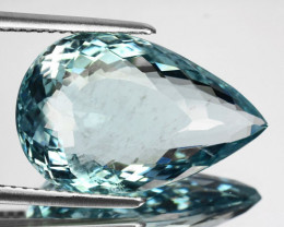 9.86Cts Untreated Natural Aquamarine Pear