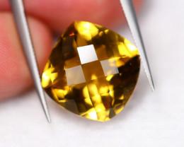 9.23Ct Natural VVS Clarity Honey Quartz Checkerboard ~ B13/11