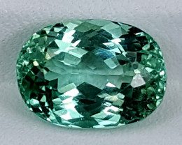 5.10Crt Green Spodumene  Best Grade Gemstones JI128