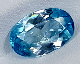 1.95Crt Natural Blue Zircon Best Grade Gemstones JI128