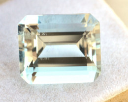 10.97 Carat Aquamarine -- Very Nice Octagon Cut Stone!!