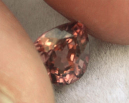 1.79 Carat Zircon -- Wonderful Rosy Pink Pear Cut Stone
