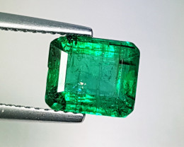 "2.20 ct "" AAA Green Gem "" Fantastic Octagon Cut Natural Emerald"