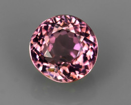 1.10 CTS AWESOME NICE ROUND-NATURAL SWEET-PINK-TOURMALINE FACET GENUINE!!