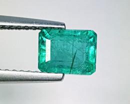 """1.44 ct """" Excellent Gem"""" Fantastic  Octagon Cut Natural Emerald"""