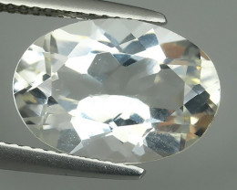 6.80 CTS DELUXE REAL RUTILE NATURAL TOPAZ CUSHION UNHEATED
