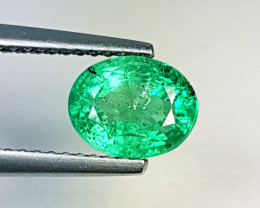 "1.73 ct "" Top Luster Gem"" Amazing  Oval Cut Natural Emerald"