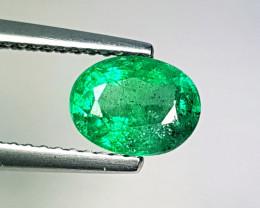 "1.17 ct "" Top Luster Gem "" Fantastic Oval Cut Natural Emerald"