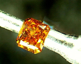 0.195ct Fancy Vivid yellowish Orange  Diamond , 100% Natural Untreated