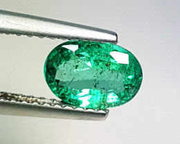 "0.80 ct "" Top Green Gem"" Fantastic Oval Cut Natural Emerald"