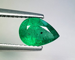 "1.04 ct "" Amazing Gem "" Stunning Pear Cut Natural Emerald"