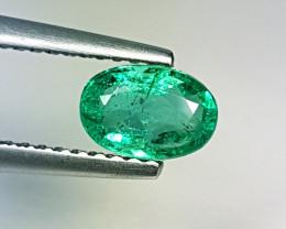 "0.78 ct "" Top Luster Gem "" Fantastic Oval Cut Natural Emerald"