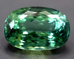 NR Auction - 33.75 Carats Carats Lush Green Spodumene from Afghanistan
