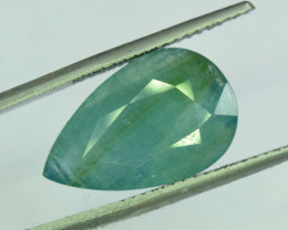 9.70 Pear Cut Carats Untreated Aquamarine Gemstone From Pakistan