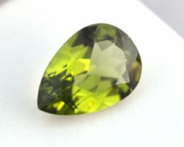 3.58 Carat Peridot -- Nice Pear Cut Stone
