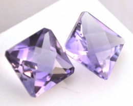 8.20 Carat Amethyst Pair -- Great Matched Pair