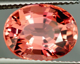 5.46CT Copper&Manganese LOUPE CLEAN Portuguese cut Apricot Pink