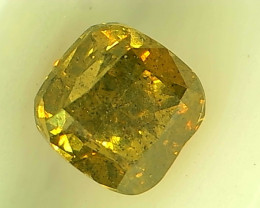 0.51ct  Fancy Intense yellowish Green Diamond , 100% Natural Untreated