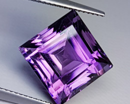 """11.72 ct """"Collective Gem"""" Stunning Square Cut Natural Amethyst"""