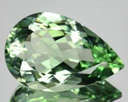 22.31 Cts Natural Prasiolite / Mint Green Amethyst Pear Cut Brazil