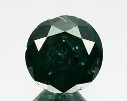 0.34 Cts Natural Deep Blue Diamond Round Cut Africa