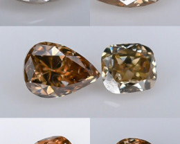 0.98 Crt Natural Diamond Parcels Faceted Gemstone (R60)