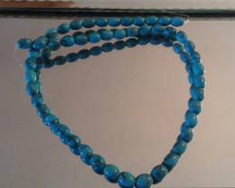HOWLITE BEAD STRAND 15  1/2 INCH TURQUOISE COLOR BEAD STRAND