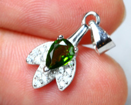 5.23cts Chrome Diopside 925 Sterling Silver Pendant