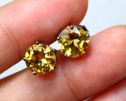 10.28cts Yellow Citrine 925 Sterling Silver Earrings