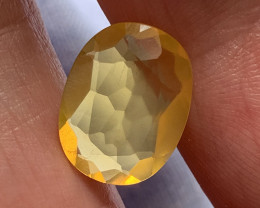 ⭐4.94ct GOLDEN YELLOW MEXICAN FIRE OPAL No reserve