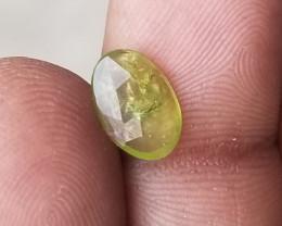 GREEN SAPPHIRE ROSE CUT GEMSTONE Natural Gemstone treated VA1575