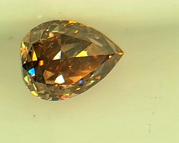 0.195ct Fancy Intense Brown Pink  Diamond , 100% Natural Untreated