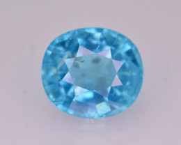 Rare 1.70 Ct Brilliant Color Natural Blue Apatite