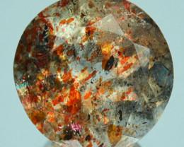 3.29 Cts Natural Brick Red Dot Sunstone Round Cut Congo Gem