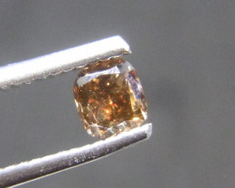 0.51ct Fancy Dark Brown-Red  Diamond , 100% Natural Untreated