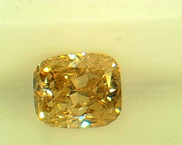 0.38ct  Fancy Intense grayish Yellow Diamond , 100% Natural Untreated