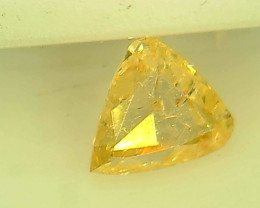 0.46ct Fancy Light Yellow  Diamond , 100% Natural Untreated