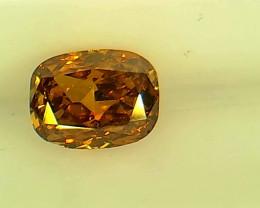 0.34ct Fancy Deep Brown Orange Diamond , 100% Natural Untreated