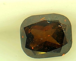 0.48ct Fancy Dark Orange Brown  Diamond , 100% Natural Untreated