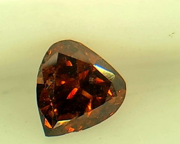 0.18ct  Fancy Dark Orange Red Diamond , 100% Natural Untreated