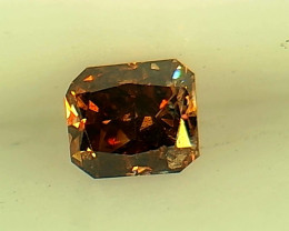 0.145ct Fancy Dark Orange Red  Diamond , 100% Natural Untreated
