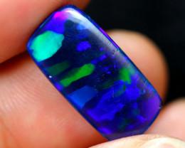 4.14cts Natural Blue Colour Ribbon Smoked Black Opal